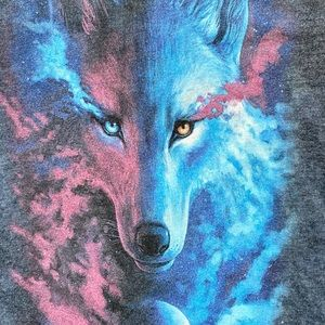 The Mountain Cosmic Wolf Tee